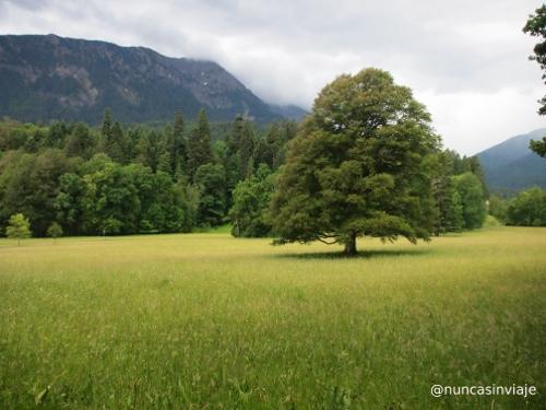 Jardines de un palacio en Baviera
