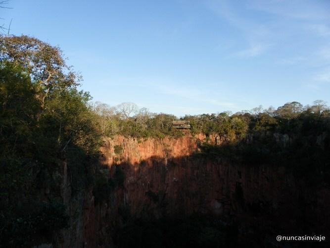 Uno de los miradores del Buraco das Araras