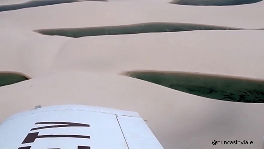 Lençóis Maranhenses desde una avioneta