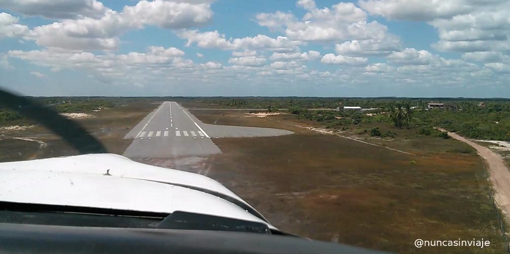 Aterrizaje de la avioneta
