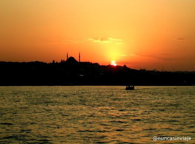 Atardecer en Estambul, Turquia