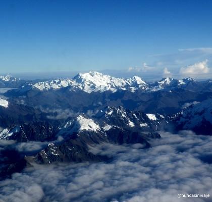 foto de los Andes desde el avión