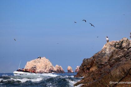 Lancha navegando por las islas Ballestas