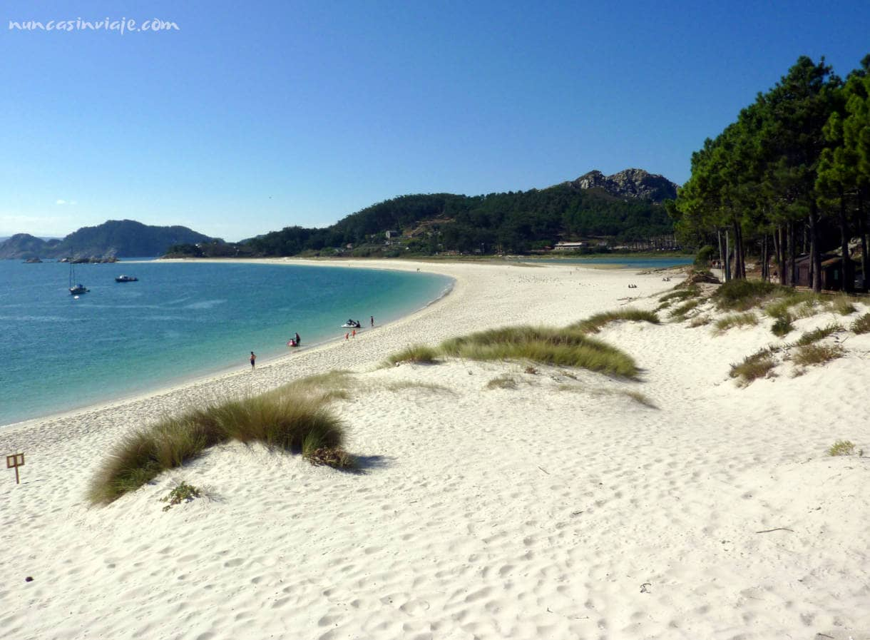 Playa bonita en las islas Cíes