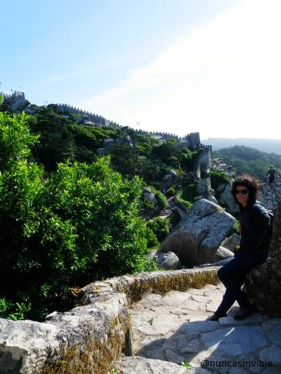 Imagen de la muralla del Castelo dos Mouros