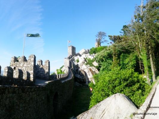 Vista general del Castelo dos Mouros, en Sintra