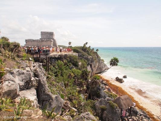 Ruinas en Riviera Maya: Tulum, junto al mar Caribe