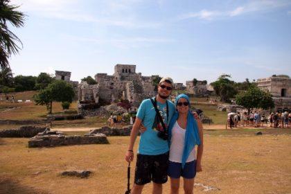Tomás y Raquel en Tulum