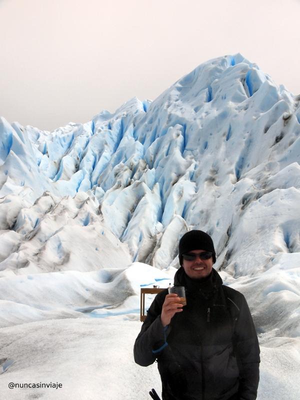 bebida en el glaciar
