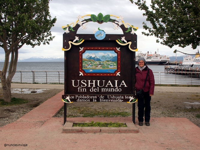 Cartel de Ushuaia fin del mundo