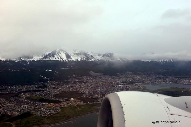 ushuaia desde el avión