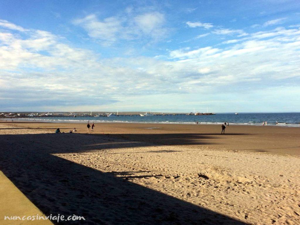 Playa en Puerto Madryn