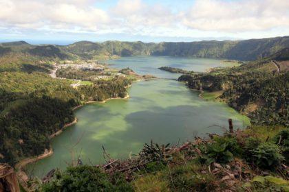 Lagoas das sete cidades en San Miguel, Azores