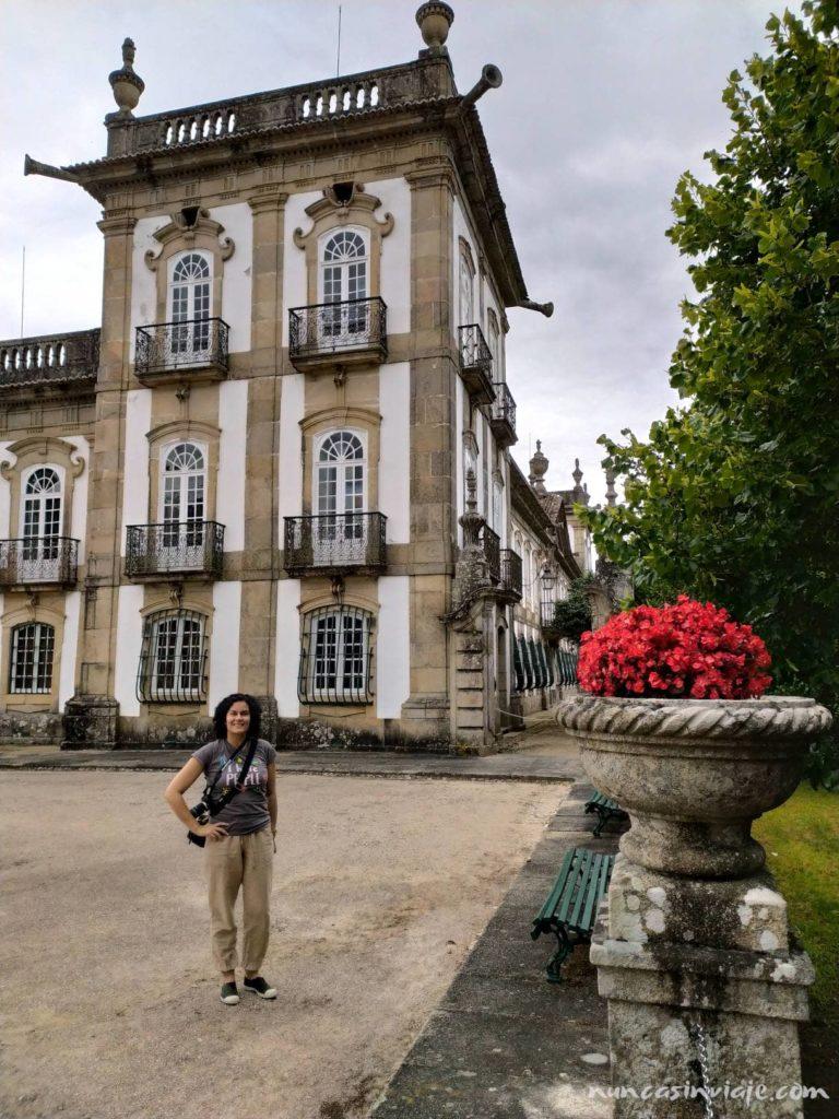 Raquel en el Palacio da Breijoeira
