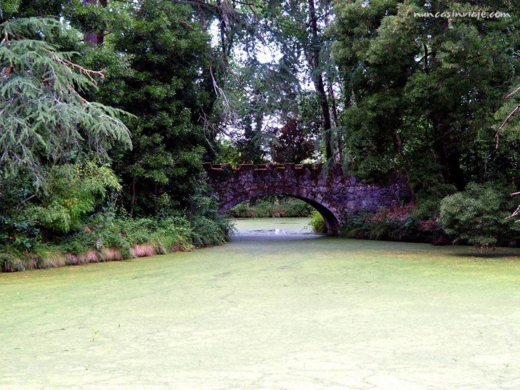 Puente de piedra sobre el lago