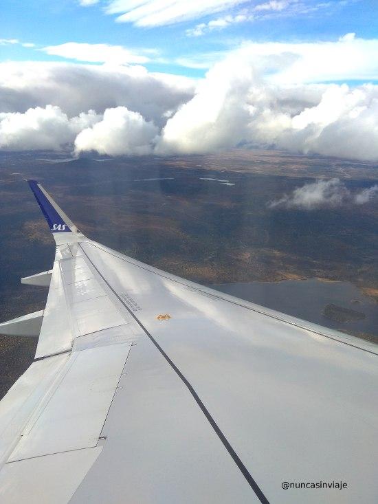 avión hacia Abisko