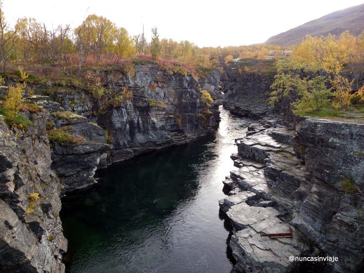 cañón del parque nacional de abisko