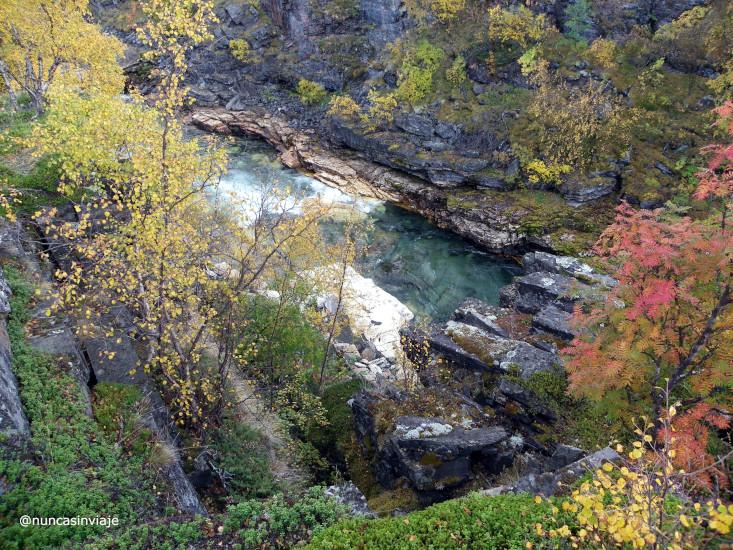 colores del cañón de abisko