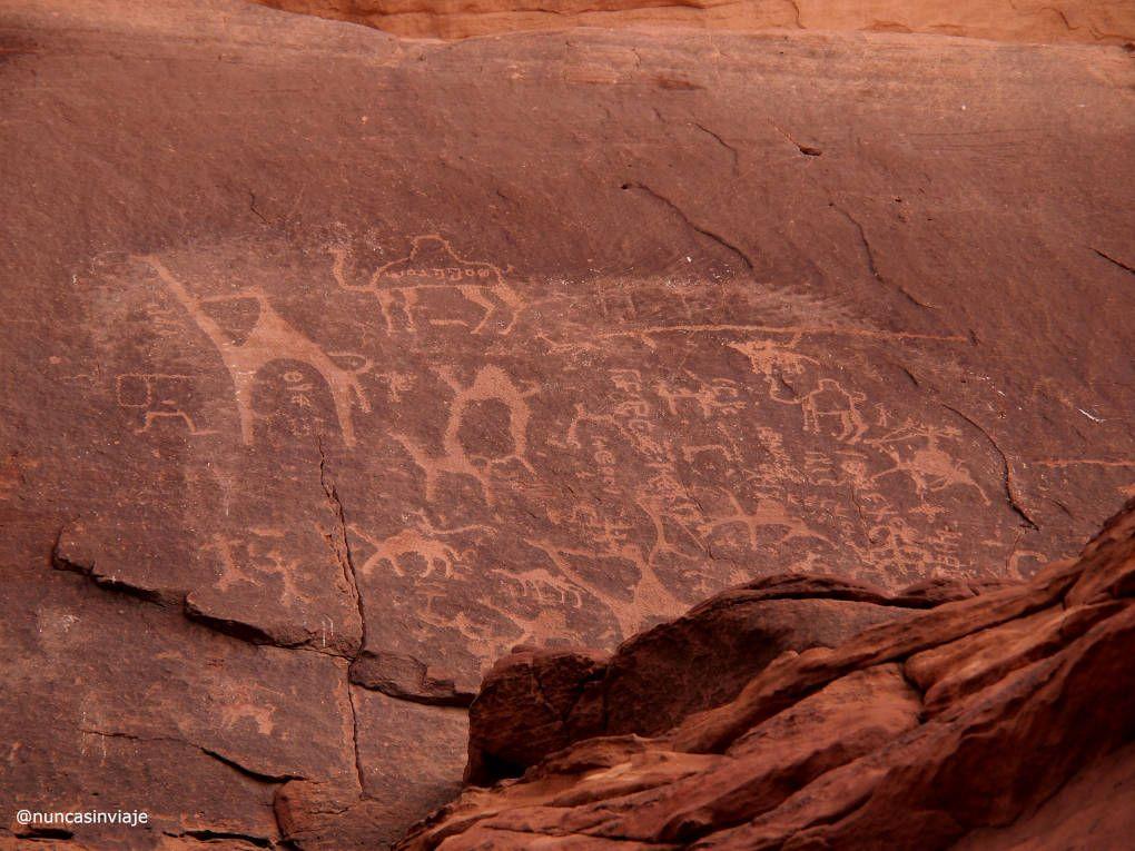 Petroglifos en el desierto