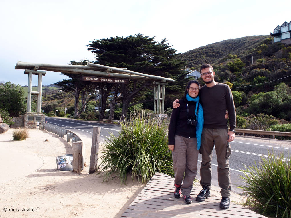 Raquel y Tomás en la Great Ocean Road