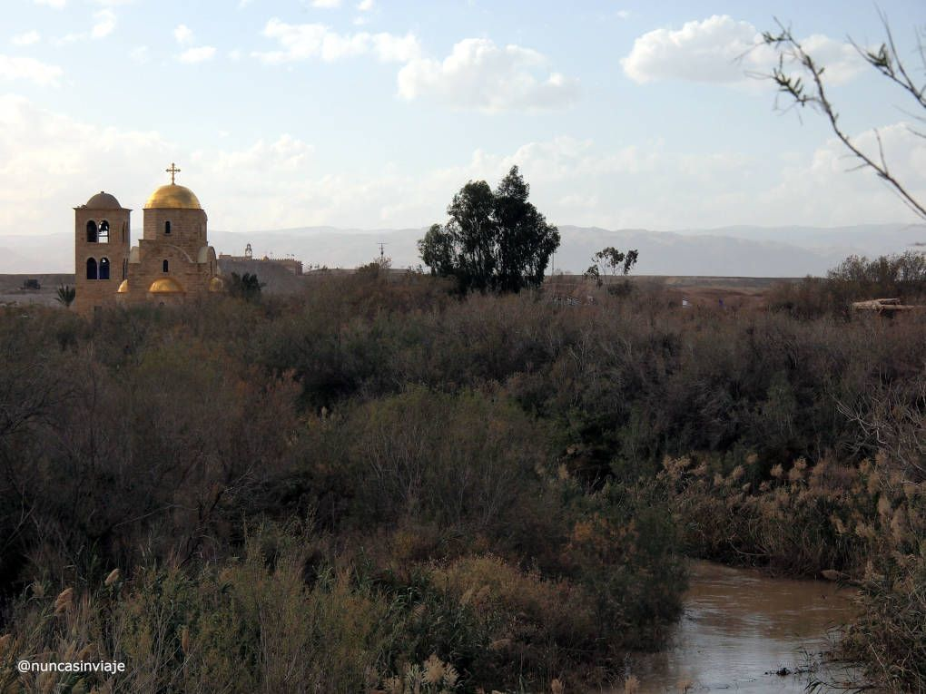 El río Jordán cerca del mar Muerto