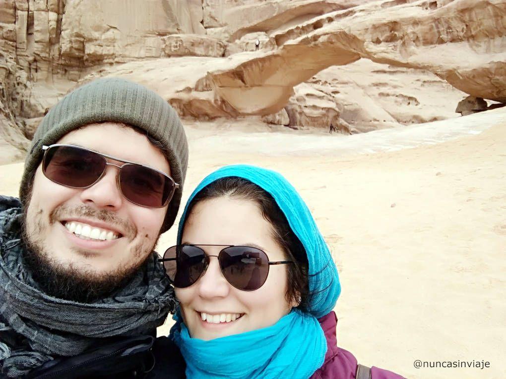 Arco en el desierto de Wadi Rum