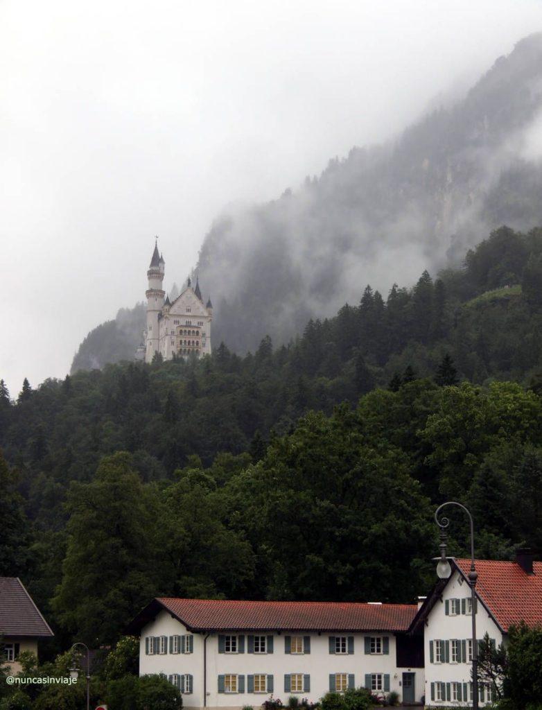 Vistas del castillo desde el pueblo