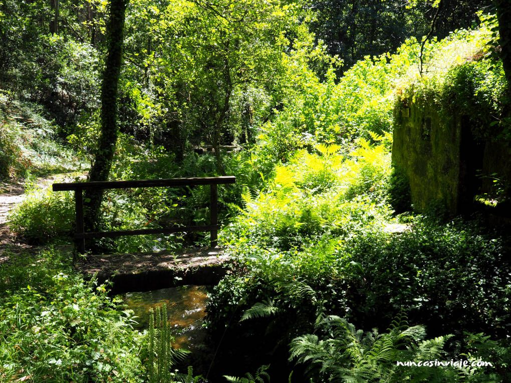 Molino del río Orxás en el Bosque Encantado de Aldán