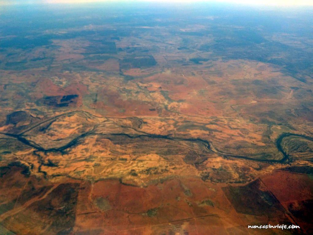 Outback australiano desde el avión