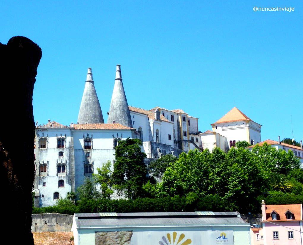 Edificio del Palacio Nacional de Sintra, en Portugal