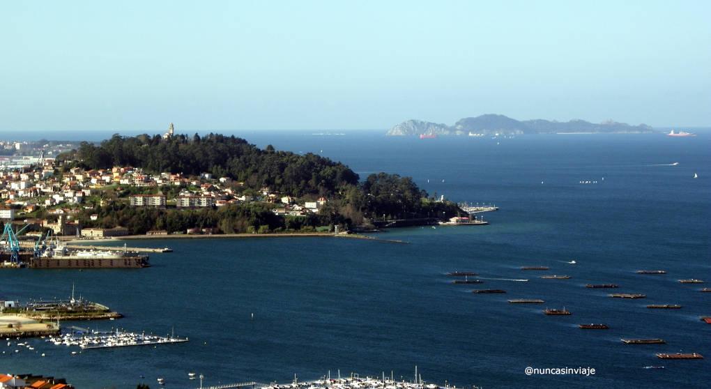 Panorámica desde la ruta del agua de Vigo