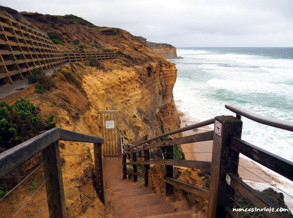 Gibson Steps en la Great Ocean Road