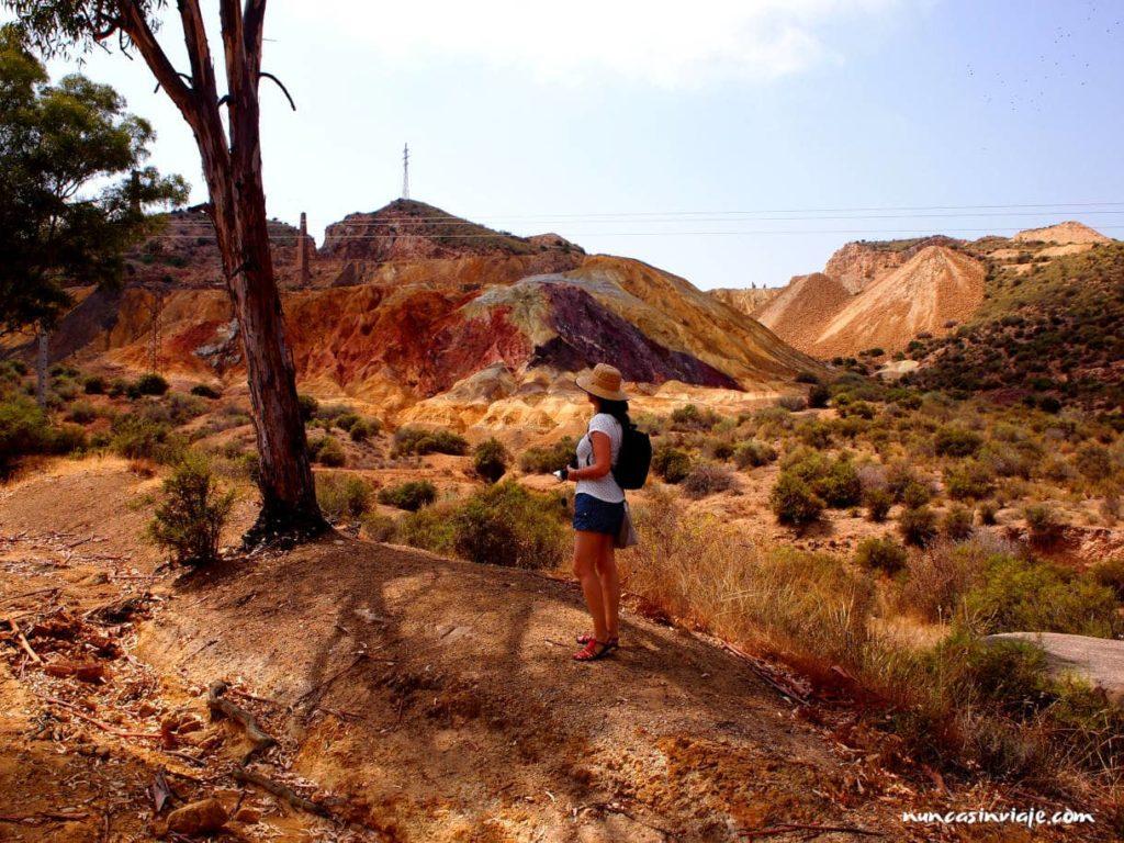 Ruta de entrada a las minas de Mazarrón