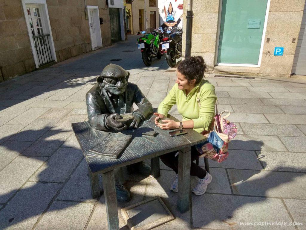 Compartiendo una cunca con Floreano en O Grove