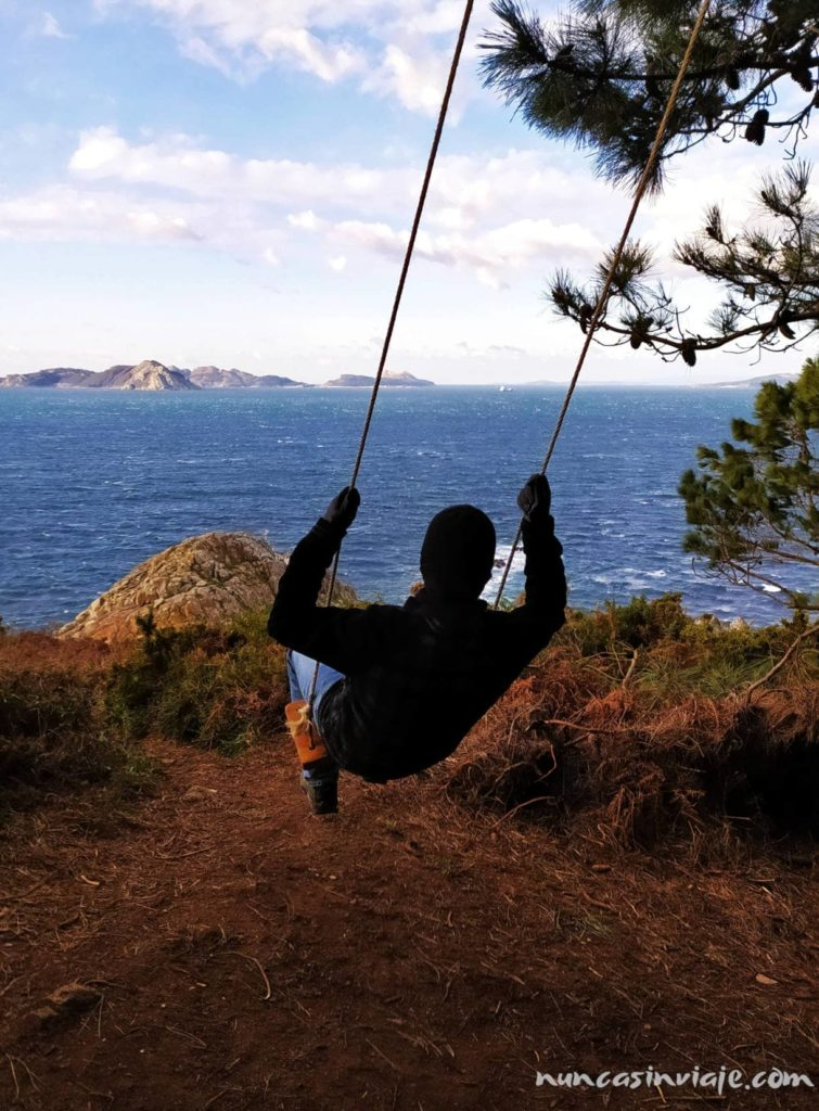 Columpio hacia las islas Cíes