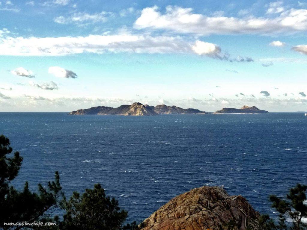 Islas Cíes desde Monteferro, en Nigrán