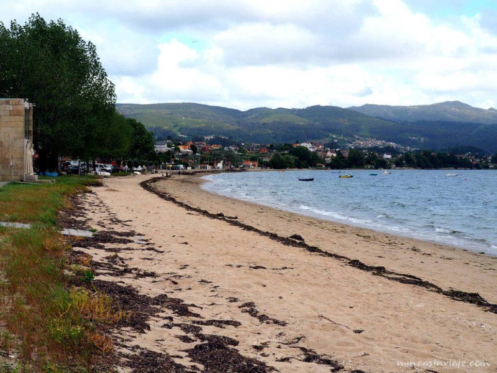 Playa de Cesantes en Redondela