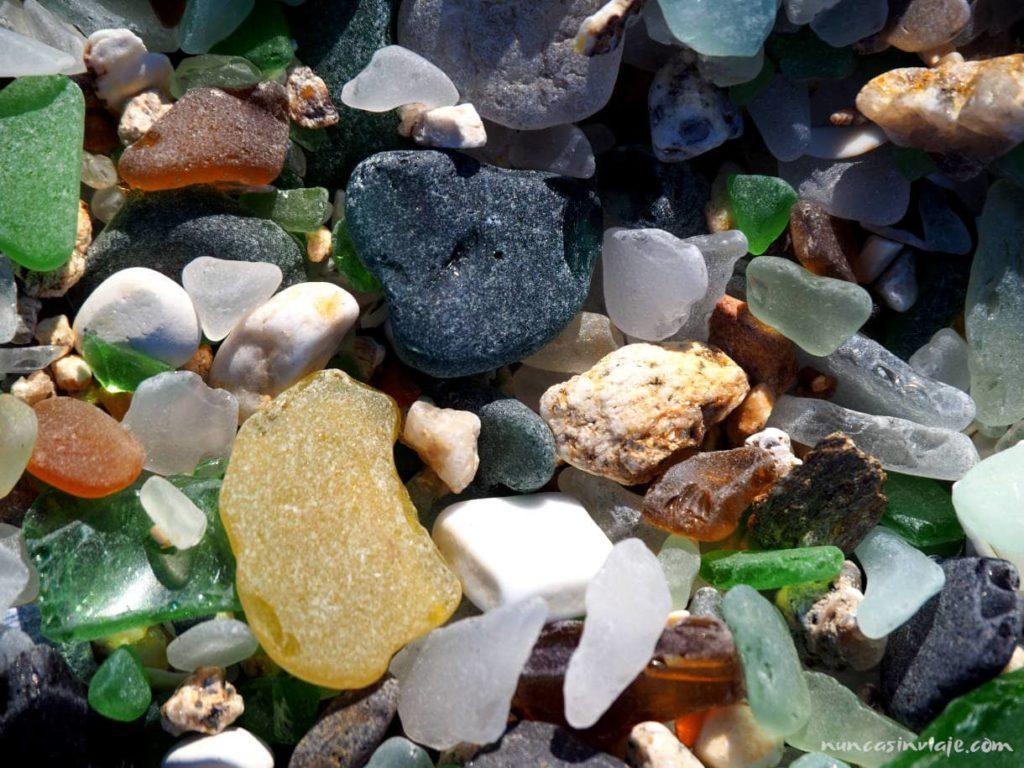 Playa de los cristales en Baiona