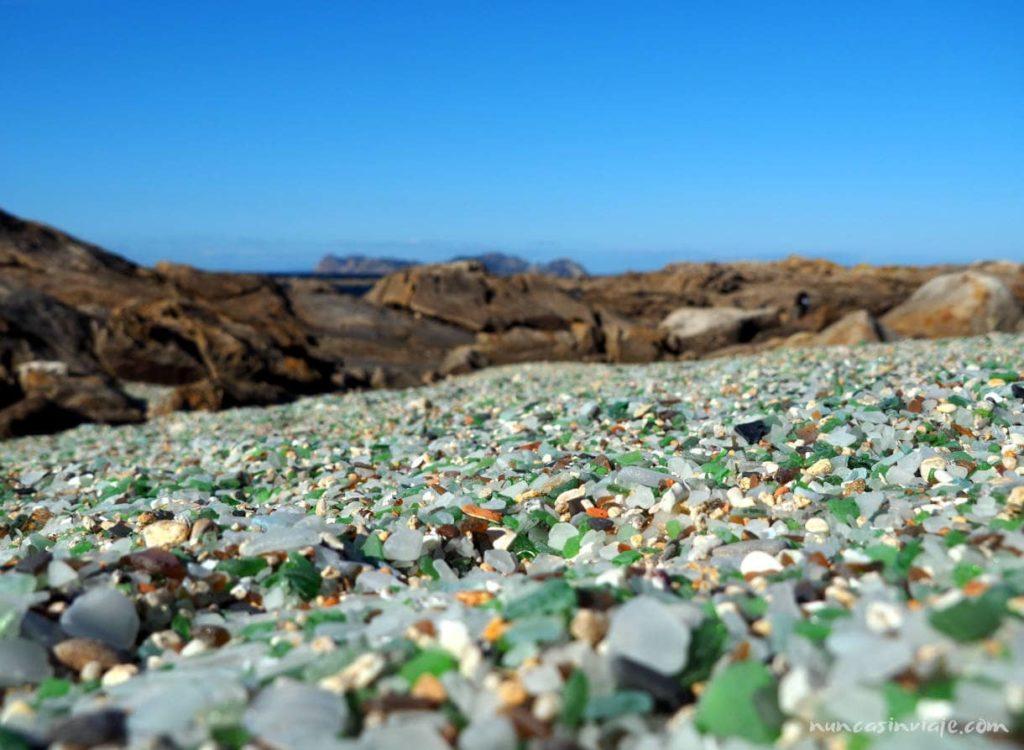 Playa de los Cristales de cabo Silleiro
