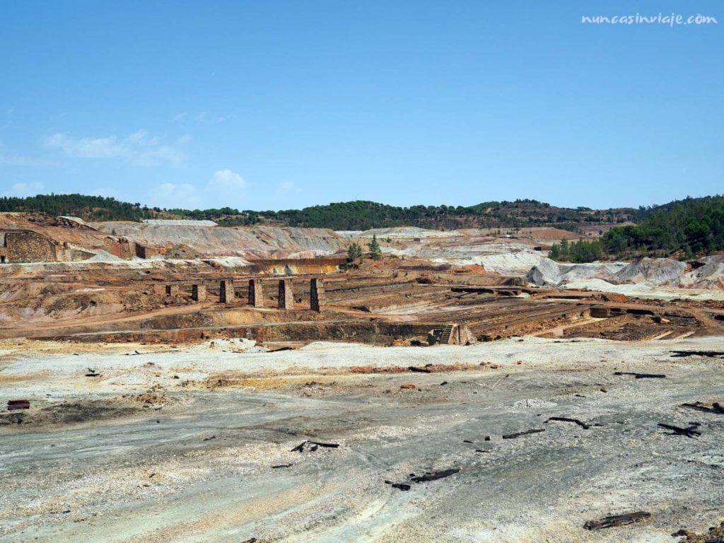 Restos de la explotación minera