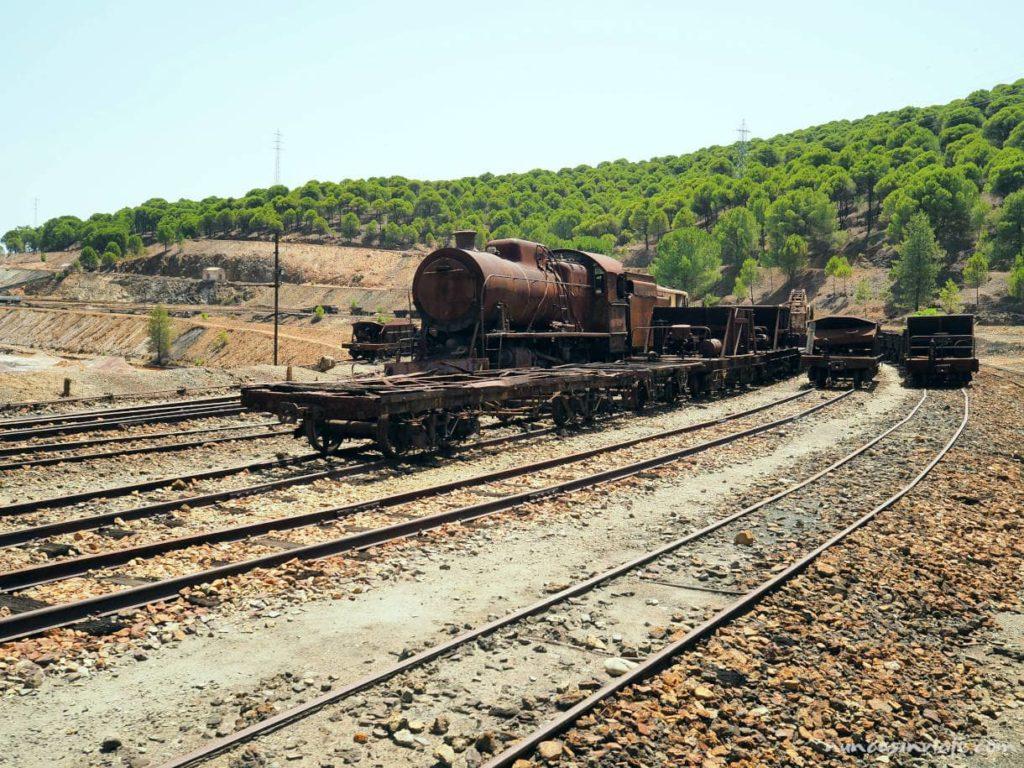 Parque de vehículos del tren minero de Riotinto