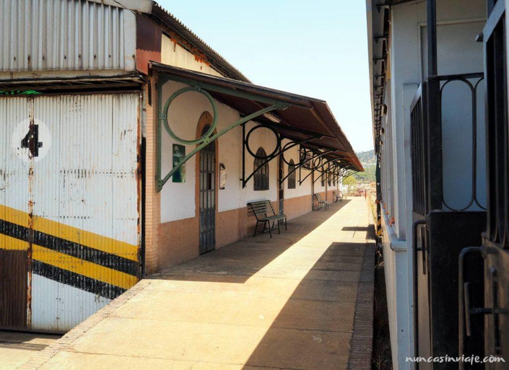 Visita al tren de las minas de Riotinto