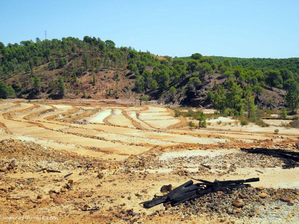 Zona de canaleo en las minas de Riotinto