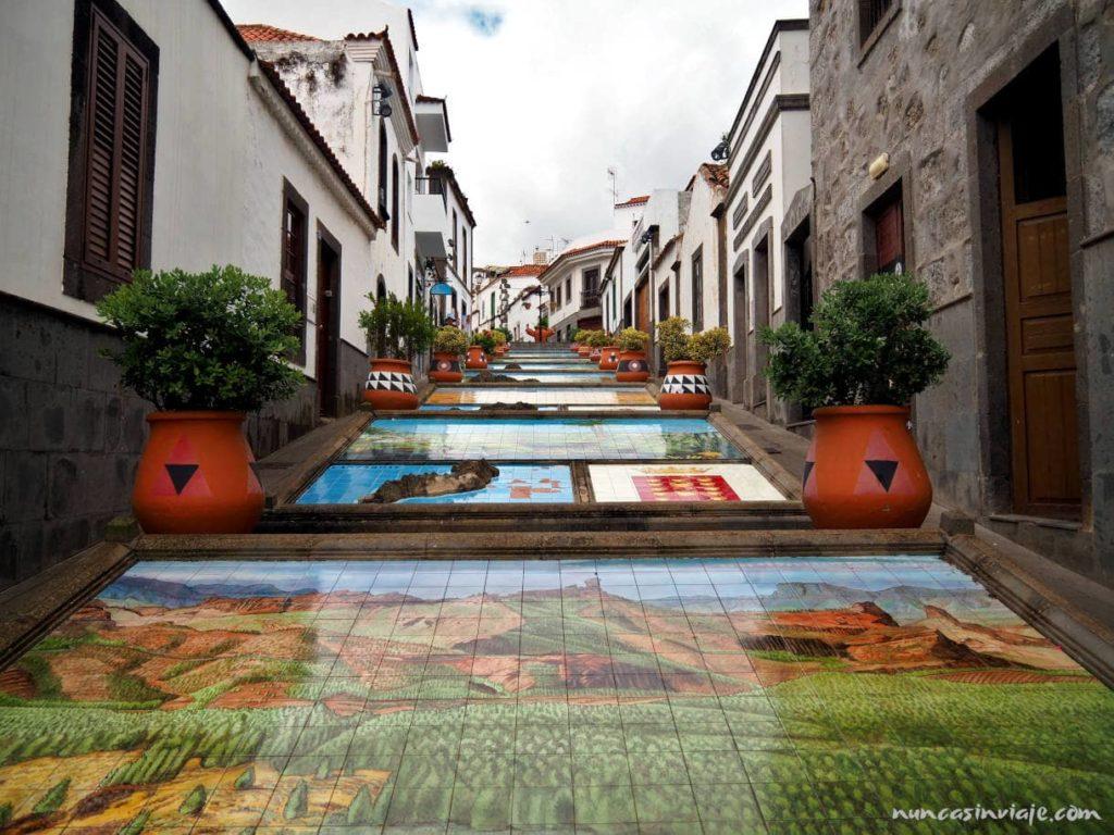 Paseo de las islas Canarias en Firgas