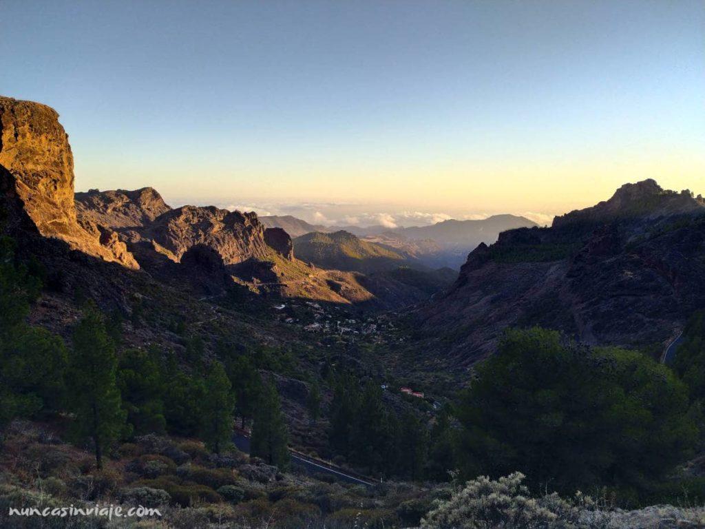 Vistas de la zona de la caldera de Tejeda