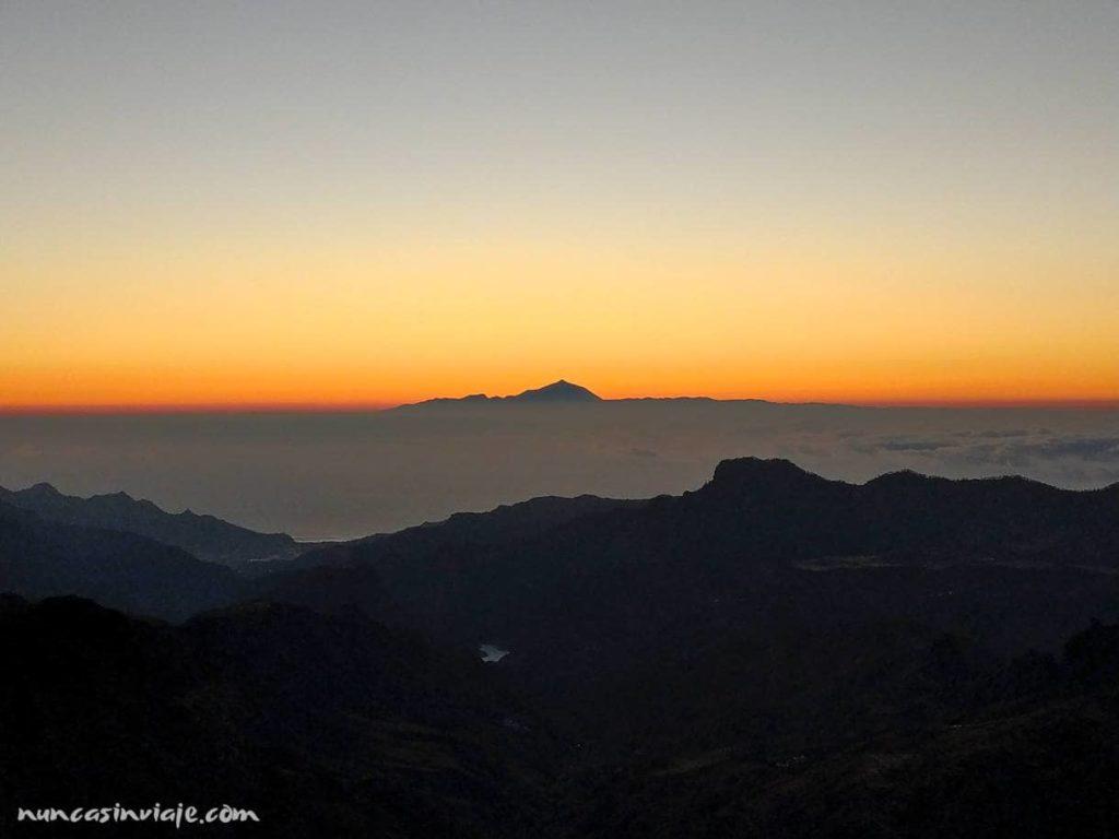 Paisaje desde las alturas en Gran Canaria