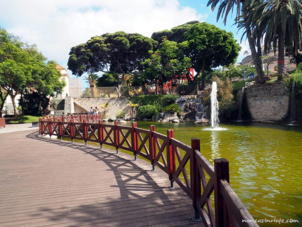 Estanque en el Parque Doramas en Las Palmas de Gran Canaria