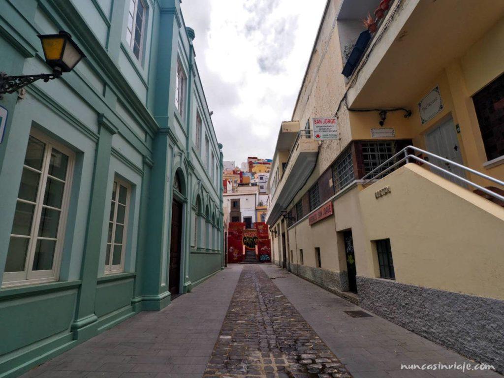 Calles junto a la Universidad de Las Palmas